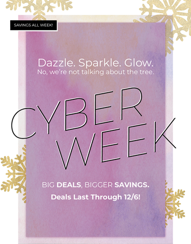 Dazzle. Sparkle. Glow. No, we're not talking about the tree. CYBER WEEK BIG DEALS, BIGGER SAVINGS. Deals Last Through 12/6!